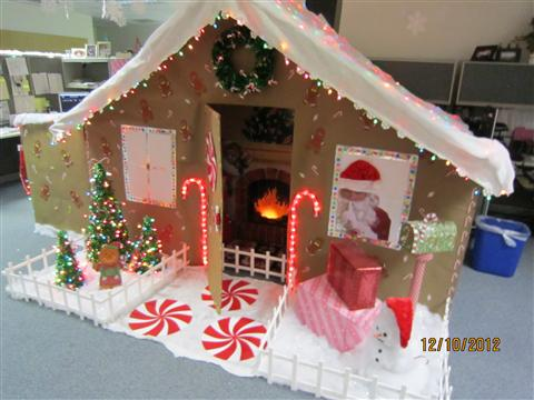 Title: Work Cubicle Gingerbread House